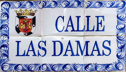 Street sign in Santo Domingo, Dominican Republic