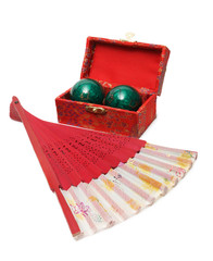 Fantail and chinese health balls