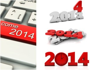 3d year 2014 collage