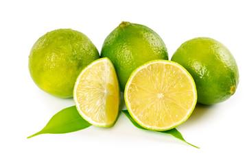 Fresh ripe limes