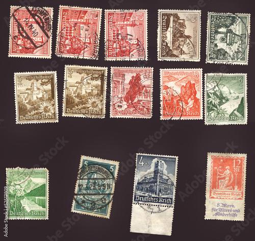 Alte Briefmarken Winterhilfswerk Deutsches Reich Stockfotos Und