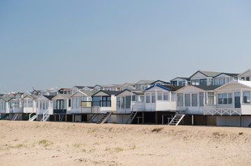 Beach huts in Holland