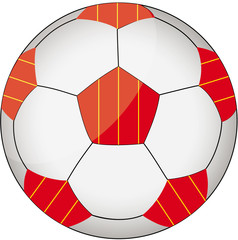 Fußball rot-gelb