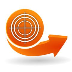 Wall Mural - diagnostic sur bouton web orange