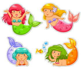 Autocollant pour porte Mermaid little mermaids