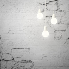 tree bulbs on white wall