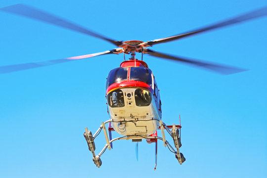Hubschrauber im Anflug