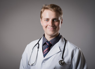 portrait of a medical doctor posing