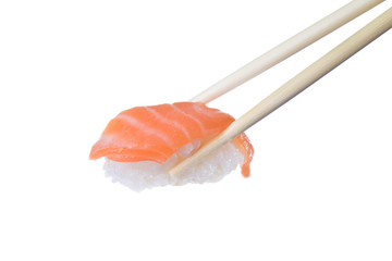 Spoed Foto op Canvas Sushi bar Salmon sushi
