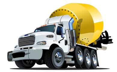 Cartoon Mixer Truck one click repaint option