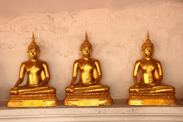 Golden Buddha in Buddhist temple