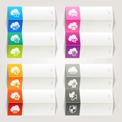 Rainbow - Cloud computing icons / Navigation template