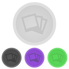 Vector illustration web  buttons  -  Photographs pictures