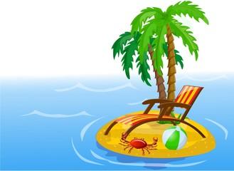 Путешествие икон, пальмы, мяч, гостиная и крабов