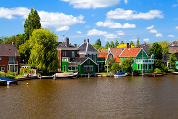 Wall Mural - traditional Dutch houses in Zaanse Schans