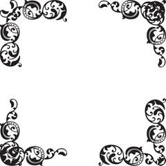 Corner elements set are isolated on white