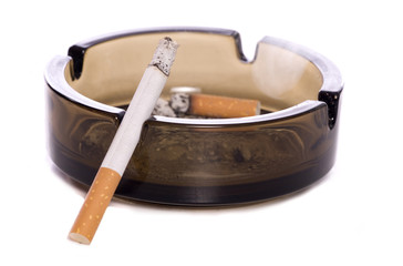 cigarette and ash tray