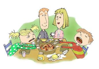 Familie beim Frühstück2