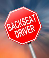 Backseat driver concept.