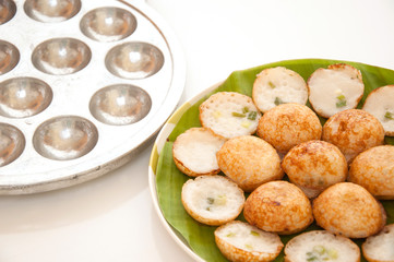 Coconut pudding is a kind of Thai sweetmeat.