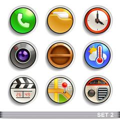 round button icons-set 2