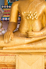buddha with lotus in hand