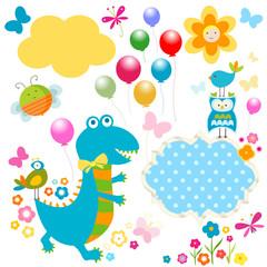 happy dinosaurs card