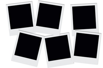 Empty polaroids.