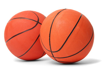 Basketball balls isolated on white