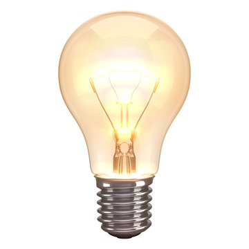 Lamp Burn White Background