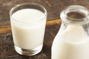 Refreshing White Cold Organic Milk