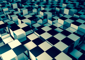 Abstract vintage cubes background