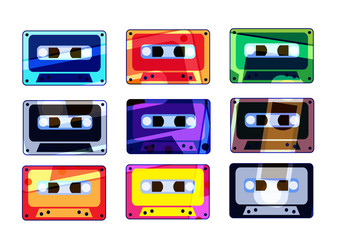 Analogue music recordable colorful cassettes