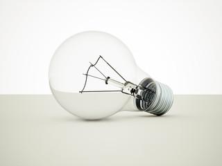 Transparent light bulb