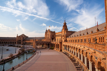 Plaza de Espana palace in Seville, Spain