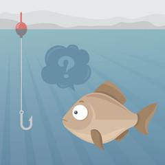 Fish and fishhook