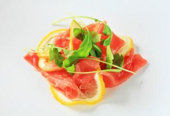 Beef Carpaccio with lemon