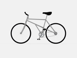 Bicycle isolated