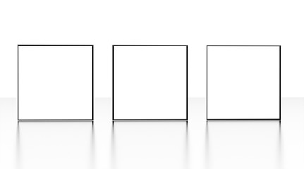 Picture frames isolated