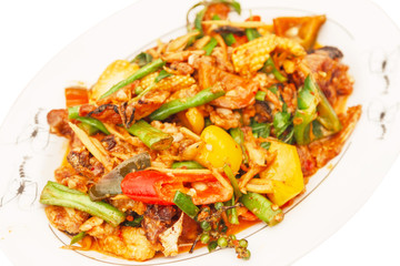 pork in red curry paste