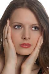 Junge Frau mit Make up