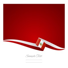 Peruvian flag background vector