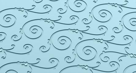 Blue ornamental concept