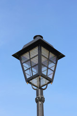 street lamp against the background of blue sky