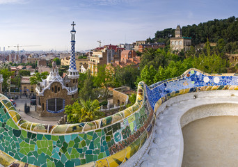 Foto op Canvas Barcelona Parc Guell Barcelona