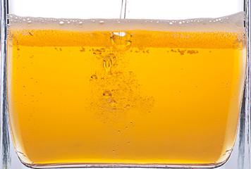 Beer bubbles.