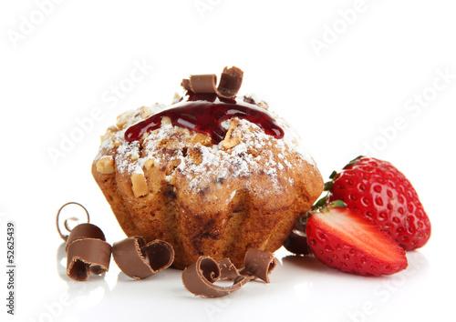 еда кекс клубника шоколад  № 143239 загрузить