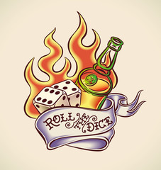 Roll the dice - tattoo design