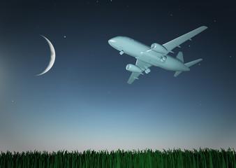 Aircraft in flight
