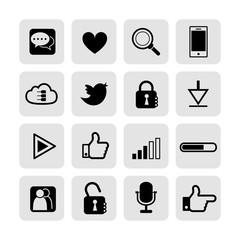 web, communication icons: internet vector set.